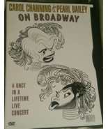 Carol Channing and Pearl Bailey On Broadway DVD 2000 Live Concert Bonus - $17.81