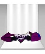 "Build A Bear Cheerleader Costume "" Cheers"" Top Purple and Black - $13.12"