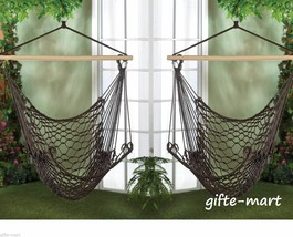 2 brown Cotton rope Swing tree Hanging Chair Hammock Porch outdoor furni... - $52.16