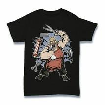 Fat barber Tshirt funny  cartoon S-3XL - £9.79 GBP+