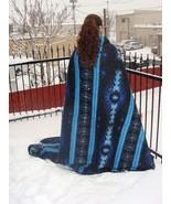 """#4905 Recycled Alpaca Wool Blend Fiber 2 Blanket 66""""x90""""Eco Friendly Sus... - $79.15"""