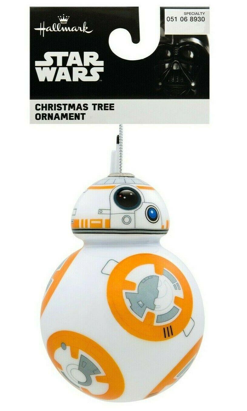 Hallmark Star Wars BB-8 Droid Decoupage Shatterproof Christmas Tree Ornament NWT
