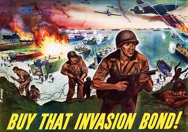 Primary image for Buy That Invasion Bond - 1944 - World War II - Propaganda Poster