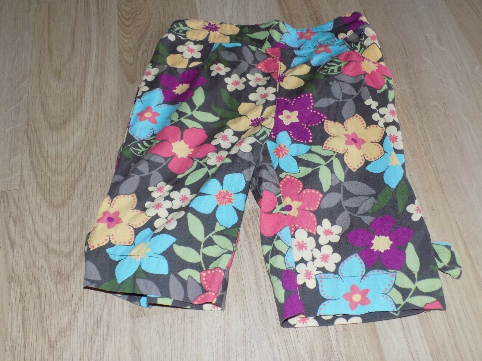 Primary image for Size 18-24 Months Gymboree Aloha Sunshine Brown Floral Capris Summer Pants EUC