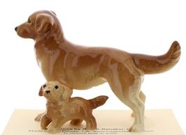 Hagen-Renaker Miniature Ceramic Dog Figurine Golden Retriever Papa and Pup image 2