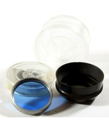 Paillard Bolex Blue Filter In Holder/Lens Hood For D-Mount 8mm Movie Cam... - $16.14