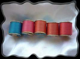 5 Spools of Coats n Clark, J & P Coats,  Assorted Color thread, 150 yds ... - $3.00