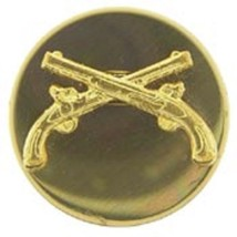 US Army Enlisted Men Military Police MP Collar Pin Set Of Two - $14.84