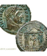 Maxentius, Temple. Rare CARTHAGE Mint. Silvered Ancient Roman Empire Fol... - $260.10