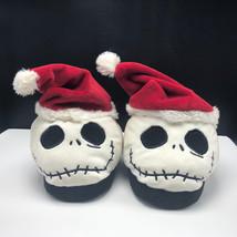 NIGHTMARE BEFORE CHRISTMAS SLIPPERS Jack Skellington walt disney santa w... - $32.90
