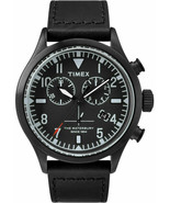 TIMEX TODD SNYDER Red Wing Leather Watch The Waterbury Chronograph Black - $119.99