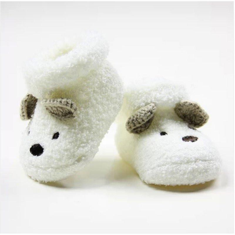 0 -12 Month Newborn Baby Socks Unisex Boy Girls Cute Bear Crib Warm Shoes