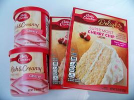 (4 PK. Bundle) 2 Betty Crocker Cherry Chip Cake Mix 15.25 & 2 Cherry Icing - $15.97