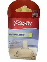 1 Playtex Baby Naturalatch Silicone Bpa Free 3-6M+ Fast Flow = 2 Nipples Nip - $5.35