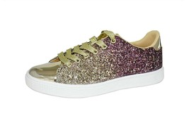 Lucky Step Glitter Sneakers Lace up | Fashion Sneakers | Sparkly Shoes f... - $42.06+