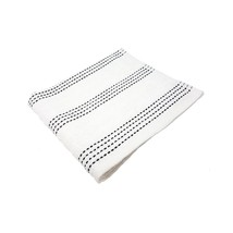 4 X LUXURY STRIPED 100% COMBED COTTON SOFT ABSORBANT WHITE BLACK BATH TO... - $22.10
