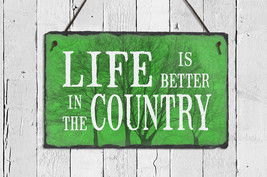 Country Sign. Country Decor. Outdoor Sign. Fami... - $36.95