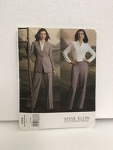 Vogue American Designer Anne Klein Jacket Top Pants Sewing Pattern 12,14... - $19.79