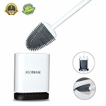 ASOBEAGE Toilet Brush with Flexible Bristles, Silicone Toilet Brush with Quick D - $30.12