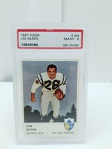 1961 Fleer Football Jim Sears #164 PSA 8 NM-MT 8 San Diego Chargers Card image 2