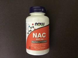 Now 3 PACK N-A-C N-Acetyl-Cysteine 600 Mg 100 Veg Capsules EXP 08/2026 - $197.99