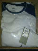 Goodfellow & Co Men's long sleeve Xavier White / Navy Shirt  2xl new with tags  image 2
