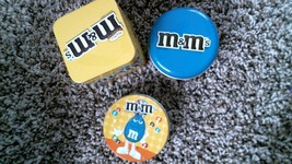 -200- M&M's Small Candy Canisters - $20.25