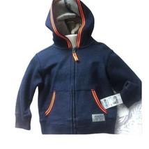 Oshkosh Jacket Toddler Girls 2T Denim Look Hoodie Lightweight Cotton - $27.49
