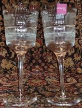 """2 Vista Alegre Atlantis Crystal Vendome Water goblets 8.25"""" Unused - $67.28"""