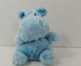 "Russ Berrie buddies Plush small round blue beanbag hippo Lauren 4"" - $14.84"