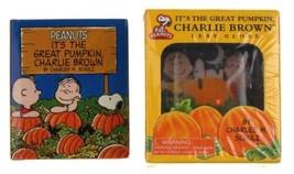 Peanuts It's The Great Pumpkin Charlie Brown Leaf Globe Halloween Mini Book Lot - $13.99
