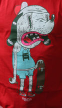 IM KING Mens White or Red Skateboarding Drunkies Dog T-Shirt USA Made NWT image 6