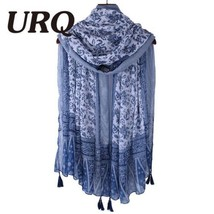 Soft Viscose Scarf with Tassels Floral Print fo... - $15.95