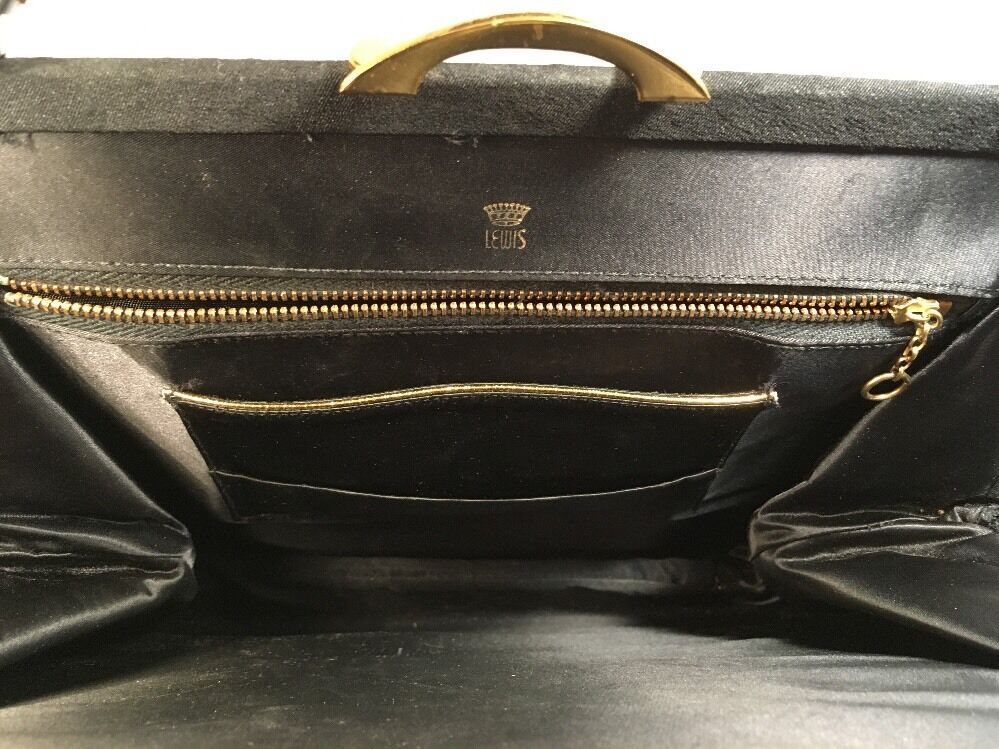 Lewis True Vintage Brown/Black Fabric Handbag