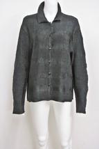PILE OU FACE Paris Crinkled Black Top Shirt Stretch Fit One Size L-XL - $39.99