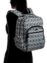 Vera Bradley Signature Cotton Campus Tech Backpack, Paisley Stripes image 2