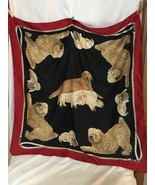 Symphony Scarfs Golden Lab Dogs Puppies Sheep Dog , Made In Italy - $14.85