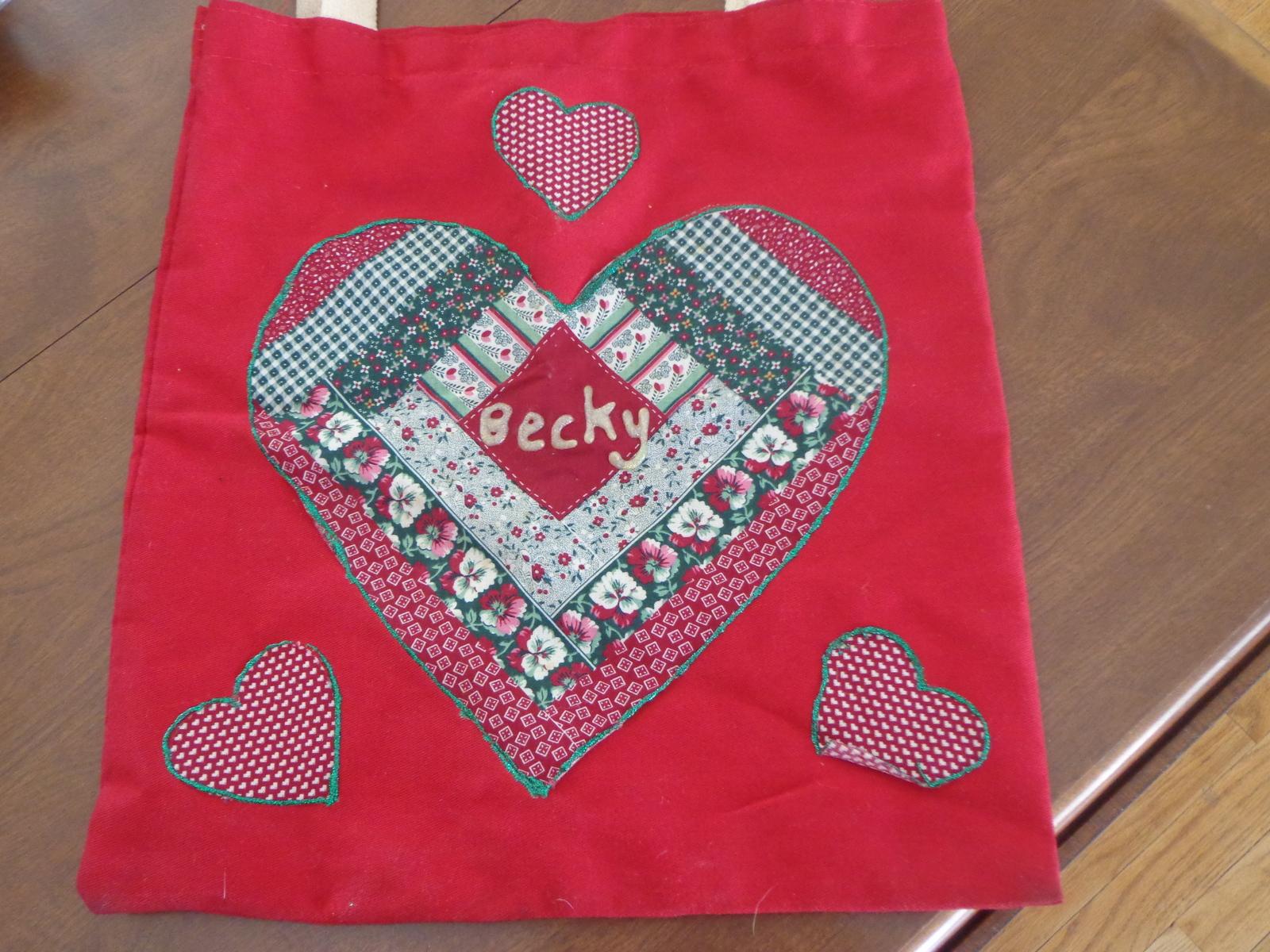 "Vintage Handmade Bookback/Tote - Personalized ""Becky"""