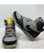 Nike Mens Air Ultra Force 2013 Basketball Shoes Gray Black 555087 001 Sn... - $33.59