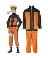 Naruto Shippuden Uzumaki Hokage Halloween Cosplay Costume Jacket Trousers - $45.70