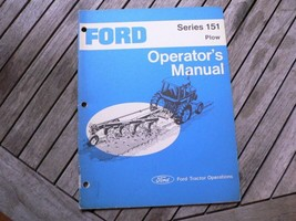 Ford Tractor Series 151 Plow Owners Operators Manual Guide Book Setting Up - $50.00