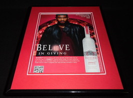 Usher 2011 Belvedere Vodka Framed 11x14 ORIGINAL Vintage Advertisement - $32.36