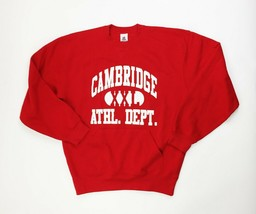 Cambridge Athletic Department Crewneck Sweatshirt Pullover Men's Large Red - $31.19