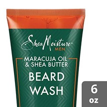 Shea Moisture Maracuja oil & shea butter beard wash, 6 Fluid Ounce image 1