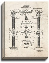Safety Razor Patent Print Old Look on Canvas - $39.95+