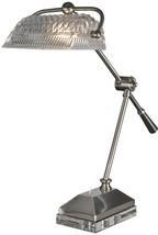 Desk Lamp DALE TIFFANY HEMINGWAY 1-Light Satin Nickel Solid - $430.00