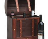 Wine Gift Boxes, Large 6 Bottle Storage Box For Wine - Wood, Faux Leather