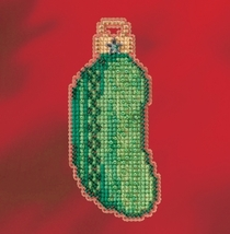 Christmas Pickle 2017 Seasonal Winter Series cross stitch kit Mill Hill - $7.20