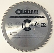 "Oldham 7254740 7-1/4"" x 40 Tooth Smooth Cutting Circular Saw Blade - $5.94"