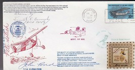 OFFICIALLY FLOWN MODEL AIRMAIL BURLINGTON WI 1969 DOCS LOCAL SIGNED #20/40 - $4.98